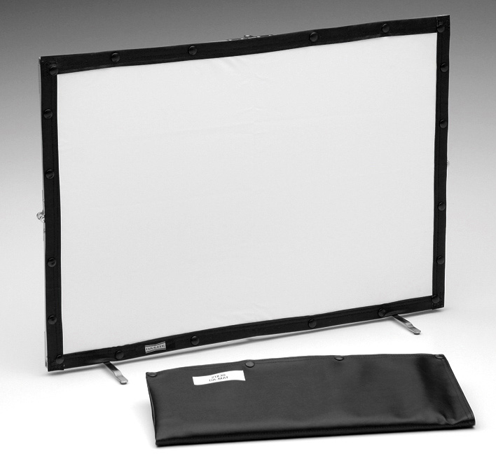 Mini Portable Projector Screen : Da lite  in mini fold mat tex w vinyl case
