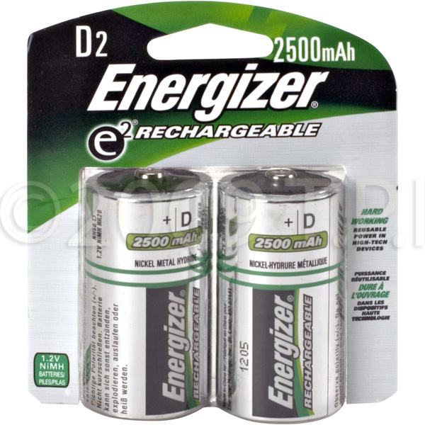 Energizer Dnh2 Rechargeable D Cell Nimh Batteries 2 Pack