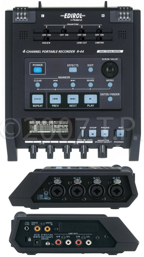 roland r 44 4 channel solid state portable field recorder. Black Bedroom Furniture Sets. Home Design Ideas