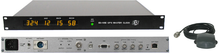ESE ES185E/NTP6/ANT Master Lock - GPS - Better than 10s Accuracy - NTP Time Server with Antenna Option ES185E-NTP6-ANT