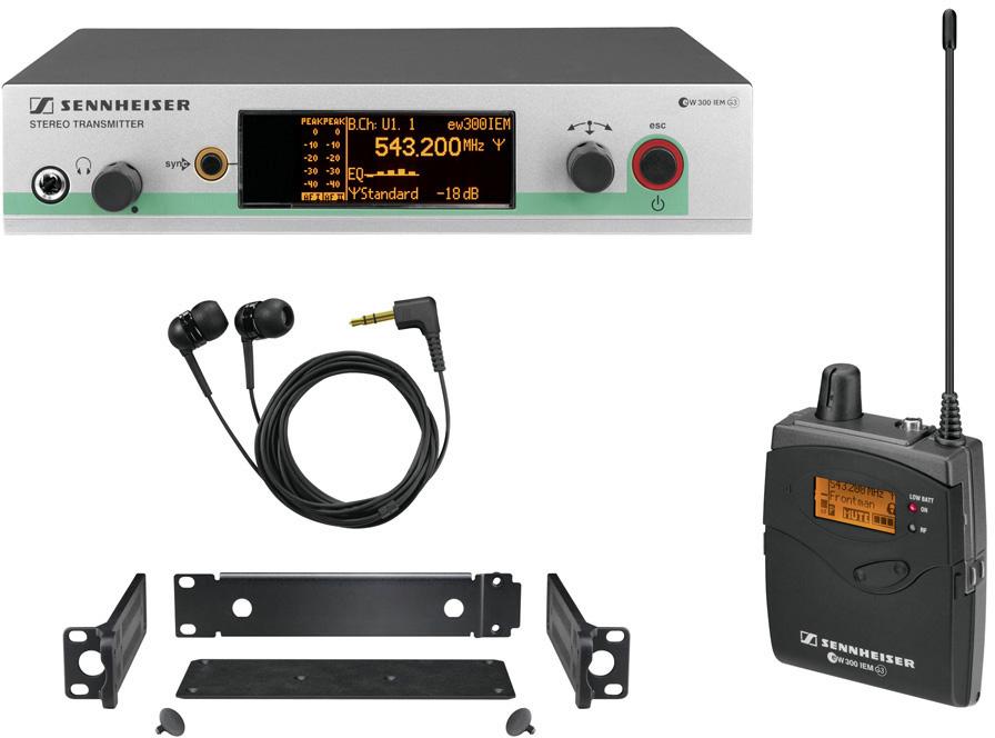 sennheiser ew 300 iem g3 wireless in ear monitor system 470 516 mhz. Black Bedroom Furniture Sets. Home Design Ideas
