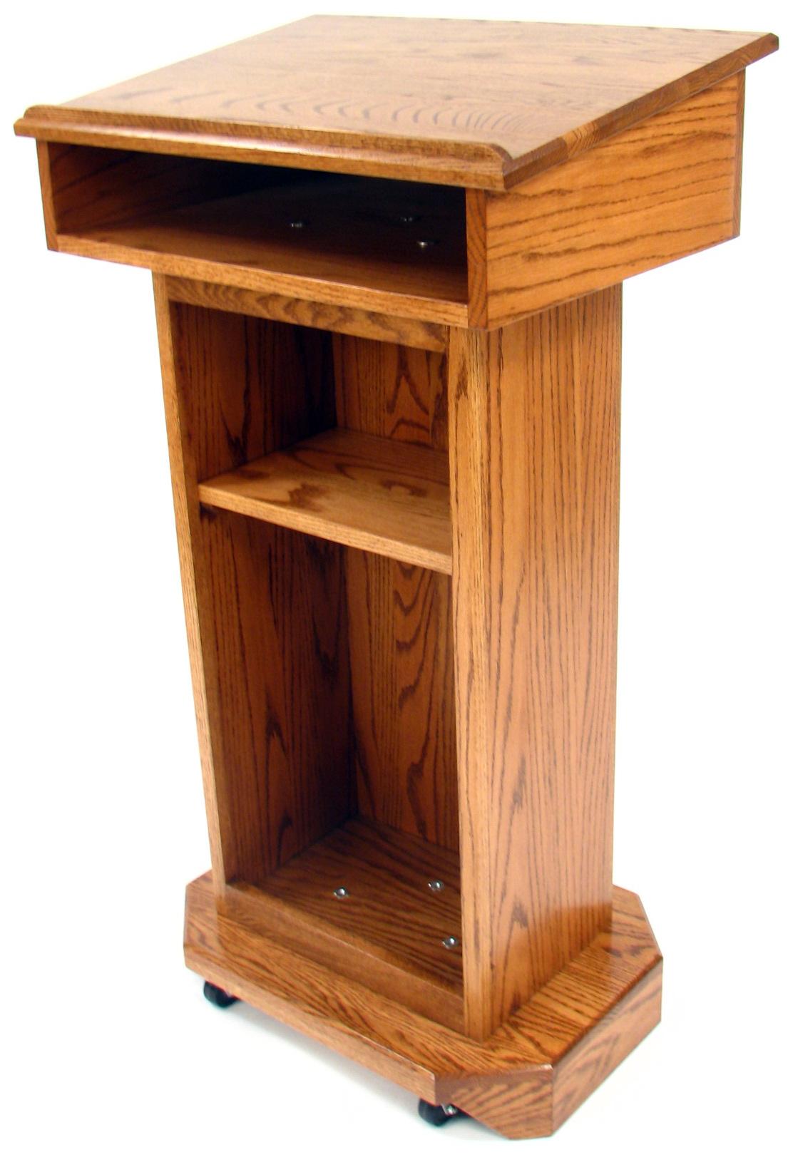 Executive wood senator red oak lectern medium finish