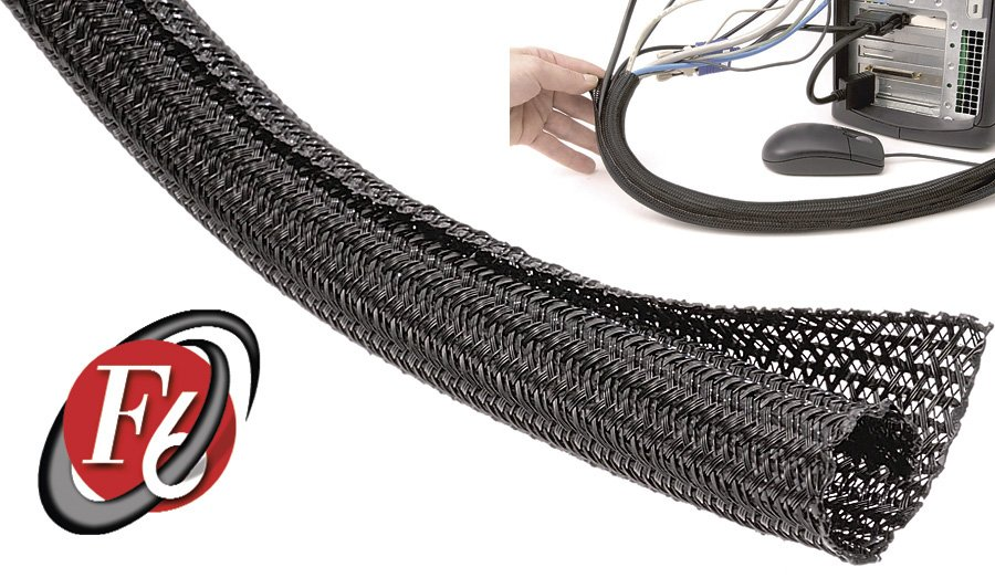 techflex 1 8 inch f6 self wrap cable sleeving black 100ft. Black Bedroom Furniture Sets. Home Design Ideas