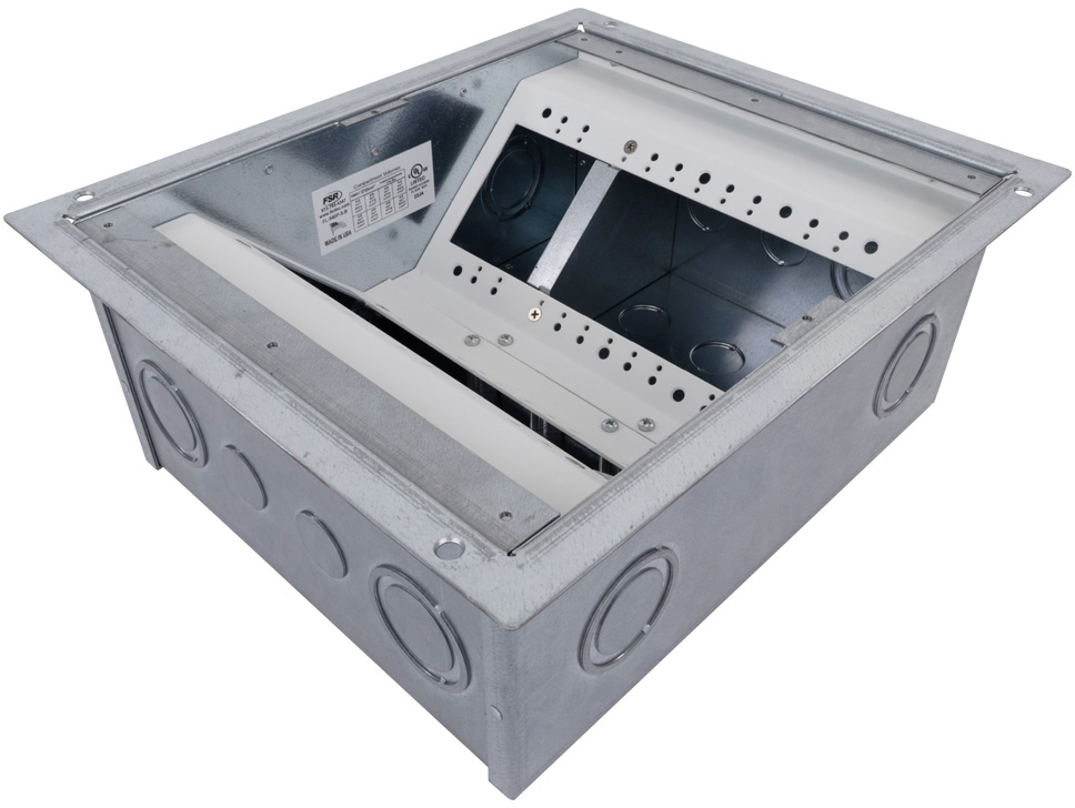 FSR FL-540P-5-B Floor Box for Raised Access Computer and Stage Floors (5 Inch Depth) FSR-FL-540P-5-B