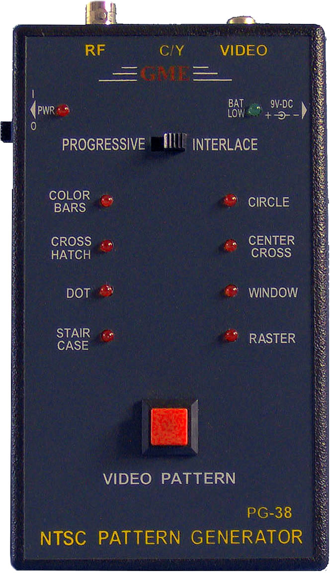 PG-38 Handheld Video Pattern Generator w/Y/C RF/Composite Video Outs