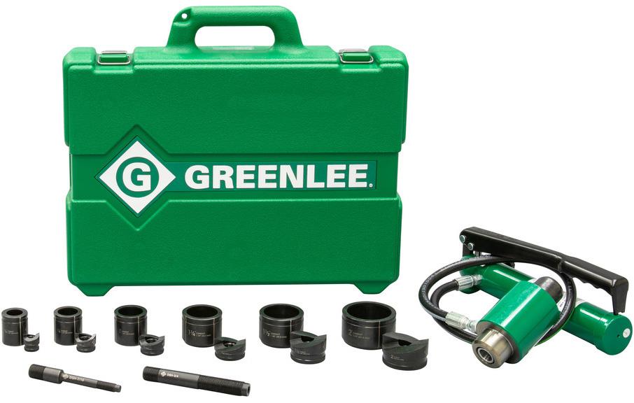 Greenlee 7306SB 11-Ton Hydraulic Knockout Kit with Hand Pump and Slug-Buster 1/2 Inch - 2 Inch GRL-7306SB