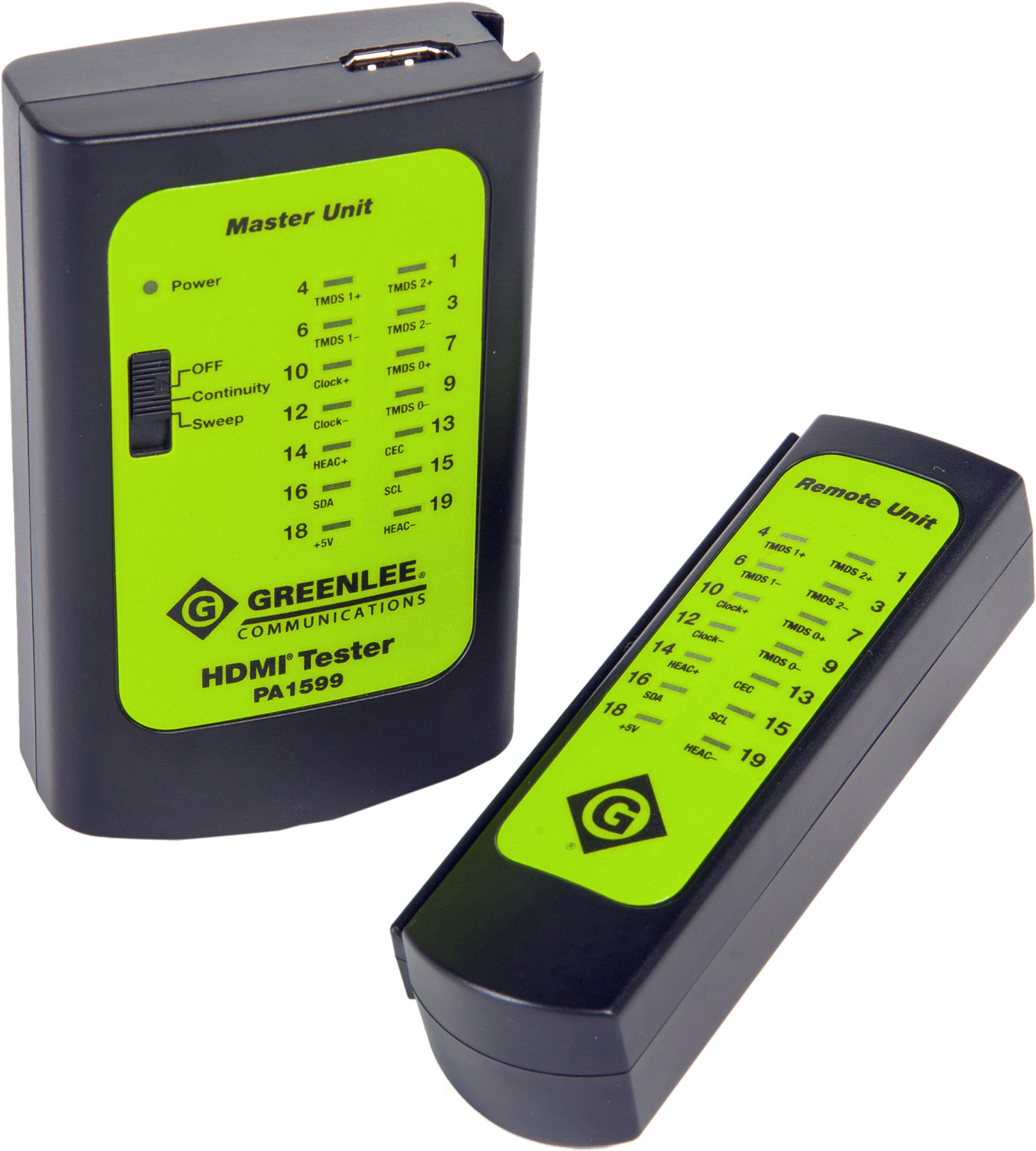 Hdmi Cable Tester : Greenlee pa dual mode hdmi pro cable tester