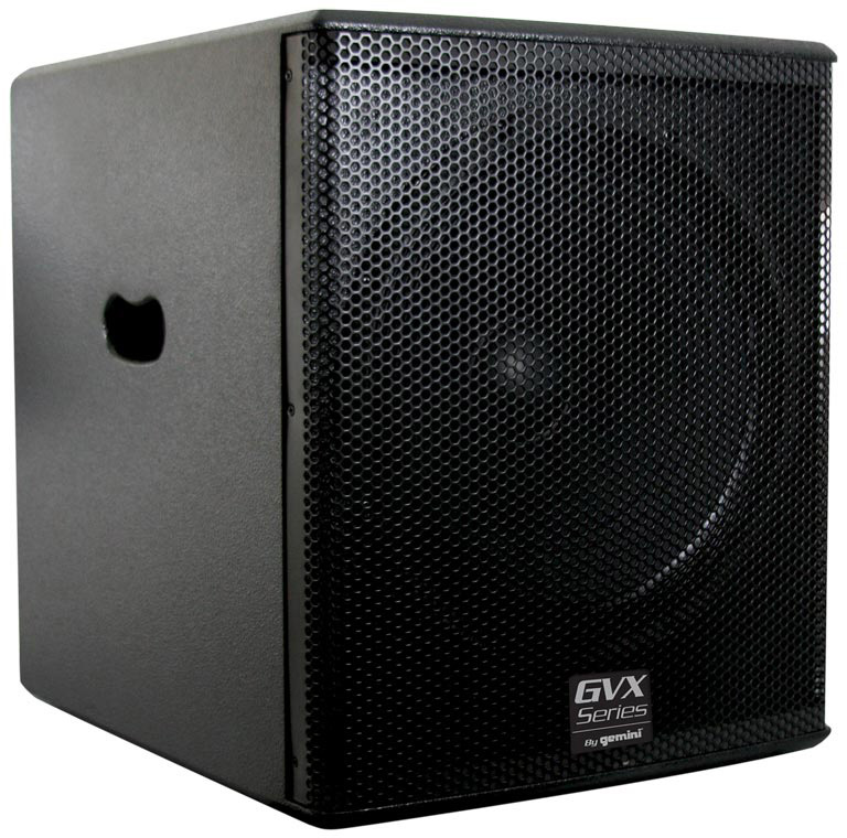 gemini gvx sub15p powered 15 inch subwoofer. Black Bedroom Furniture Sets. Home Design Ideas