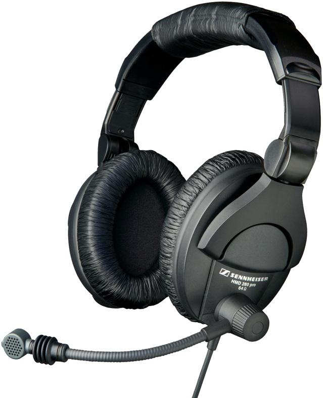 sennheiser hmd280 13 pro headset with super cardioid microphone unterminated. Black Bedroom Furniture Sets. Home Design Ideas
