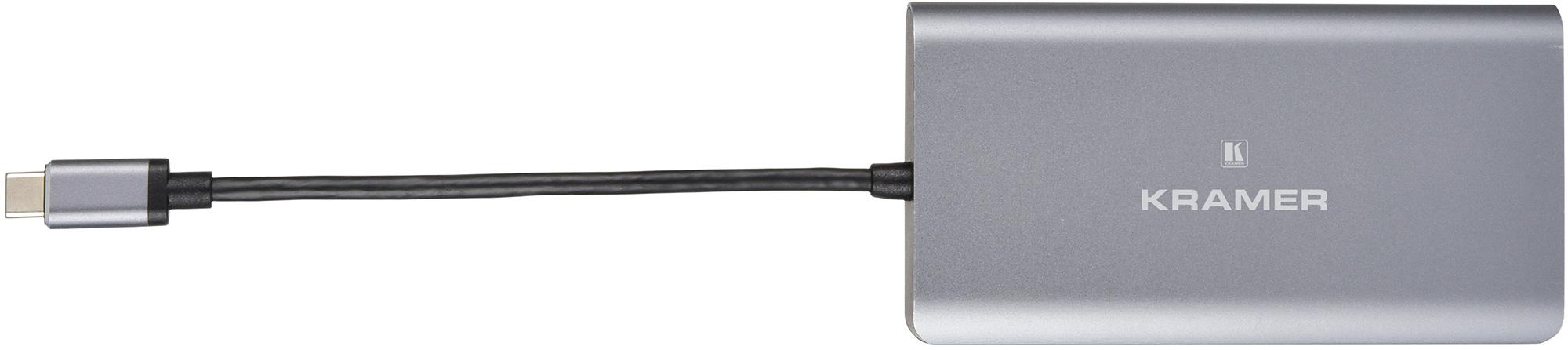 Kramer KDOCK-3 USB-C Hub Multiport Adapter - 4k@30 HDMI/DisplayPort Output - USB 3.0/-C Data & Charging - Ethernet KR-KDOCK-3