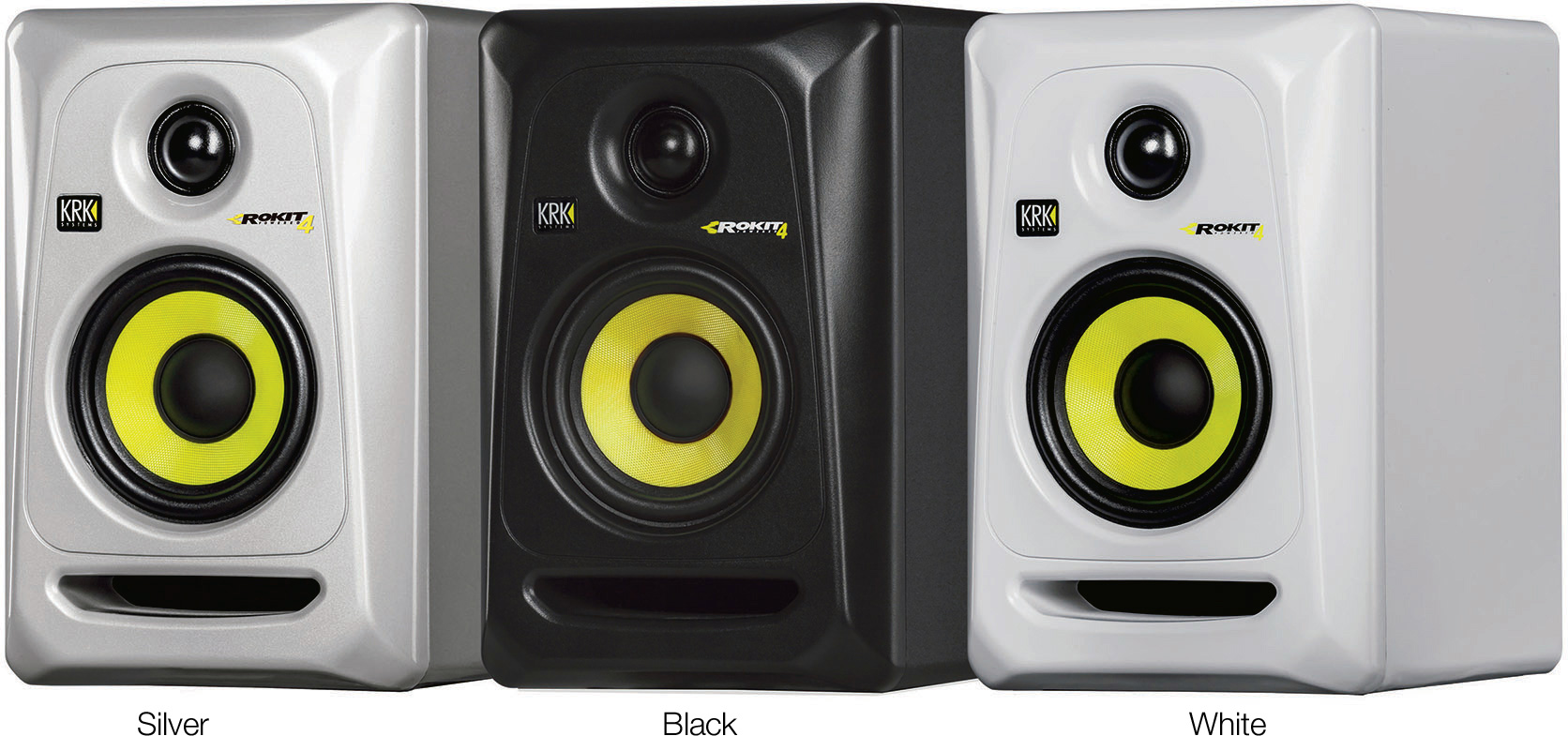 krk rp4g3 rokit 4 g3 30w 4 inch two way active studio monitor single black. Black Bedroom Furniture Sets. Home Design Ideas