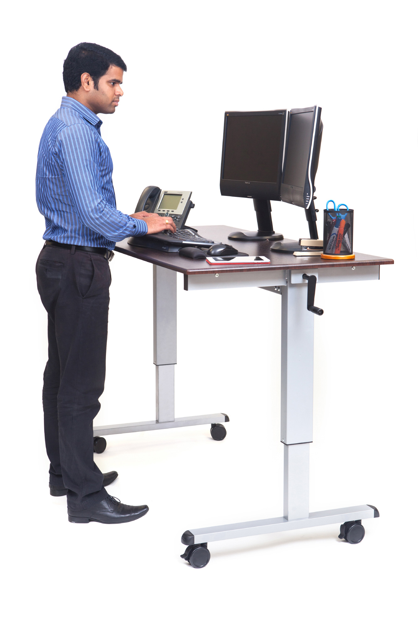 Luxor Standup Cf60 Dw 60 Inch Crank Adjustable Stand Up Desk