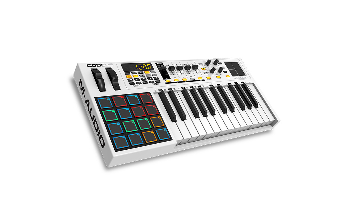 m audio code25 usb midi keyboard controller with x y pad. Black Bedroom Furniture Sets. Home Design Ideas