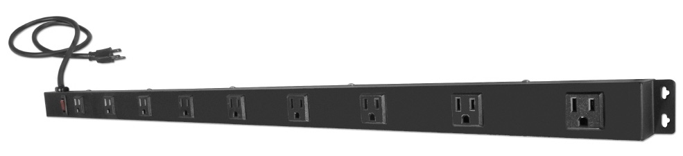 9 Outlets Surge Protector Wallmount Powerbar With 3ft Cord