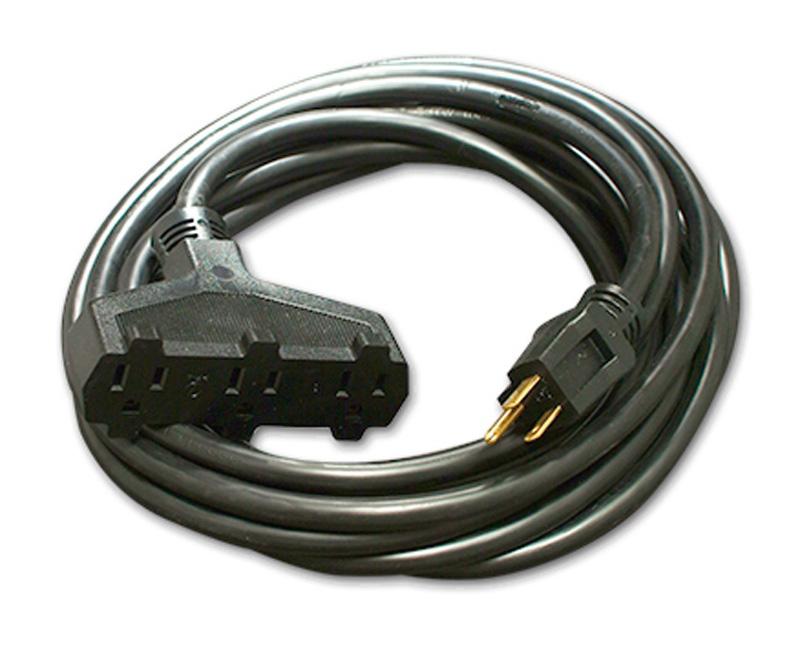 Milspec D15623010 ProPower Tri-Tap Cordset 12/3 AC Extension Cord ...