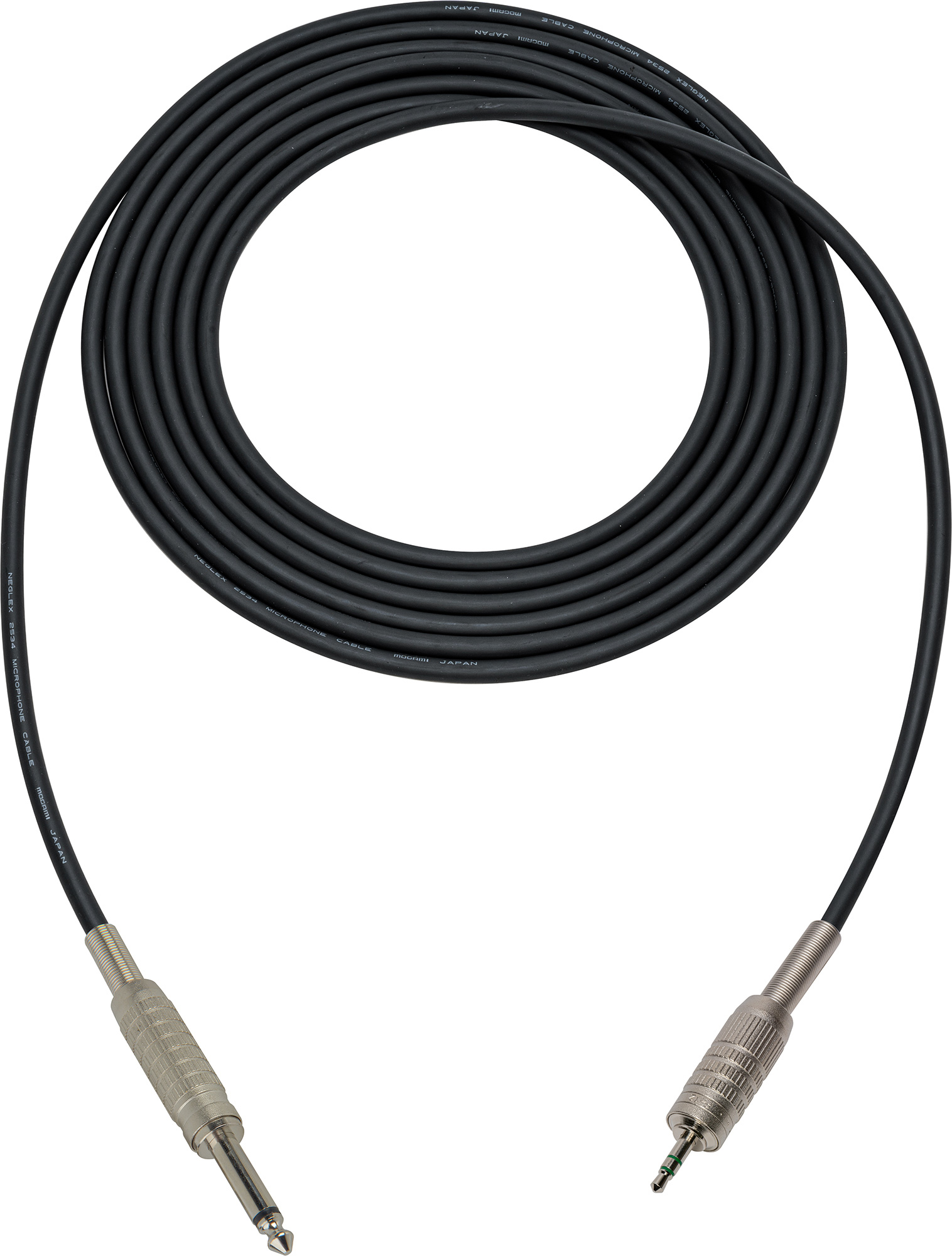 Mogami Audio Cable 14 In Ts Male To 35mm Mini Trs Male 15 Foot