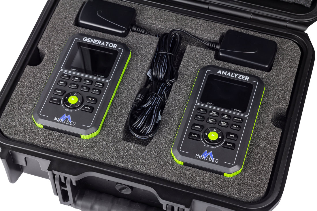 Murideo MU-FXHD-KIT Fox & Hound Testing and Troubleshooting Kit - 4K UHD & HDR Generator and Analyzer MUR-MU-FXHD-KIT