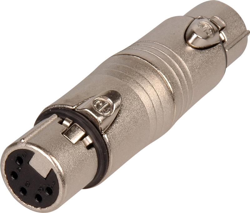 Neutrik Na5ff 5 Pin Xlr Female To Female Adapter Wired