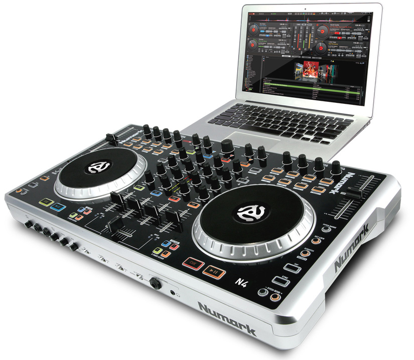 numark n4 4 deck digital dj controller and mixer. Black Bedroom Furniture Sets. Home Design Ideas
