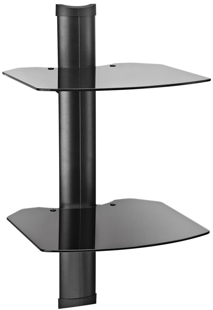 Omnimount Tria 2 B Dual A V Wall Shelf System Black With