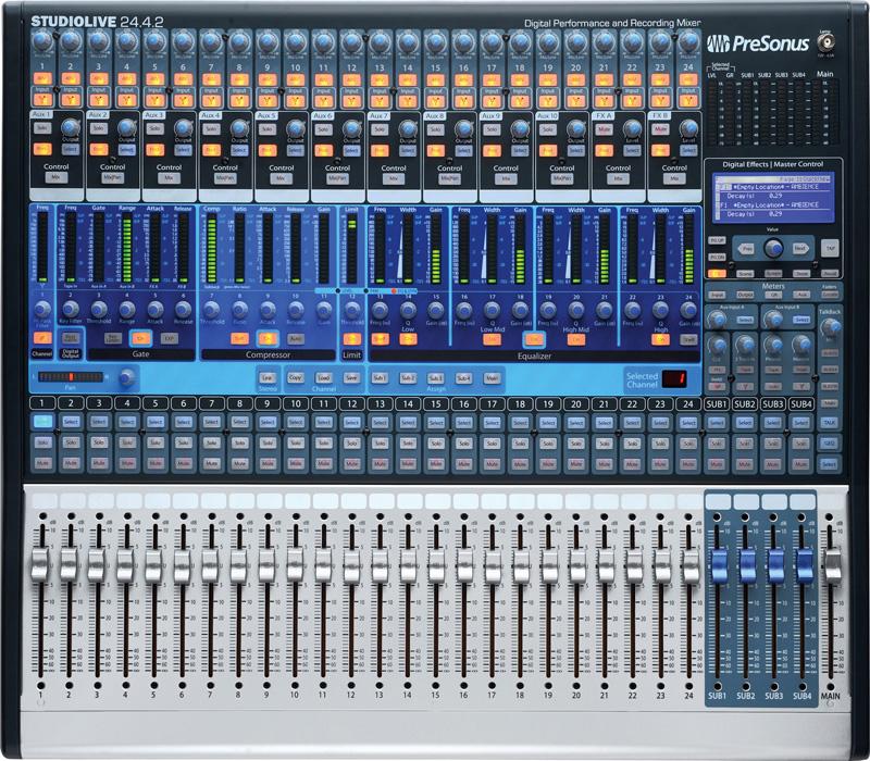 presonus studiolive 24 4 2 24x4x2 performance recording digital mixer. Black Bedroom Furniture Sets. Home Design Ideas