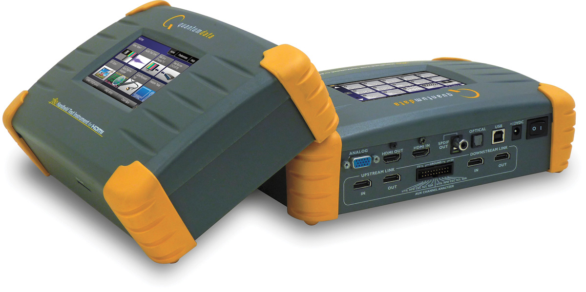 Network Analyzer Hand Held : Quantum data hdmi handheld test instrument w cable