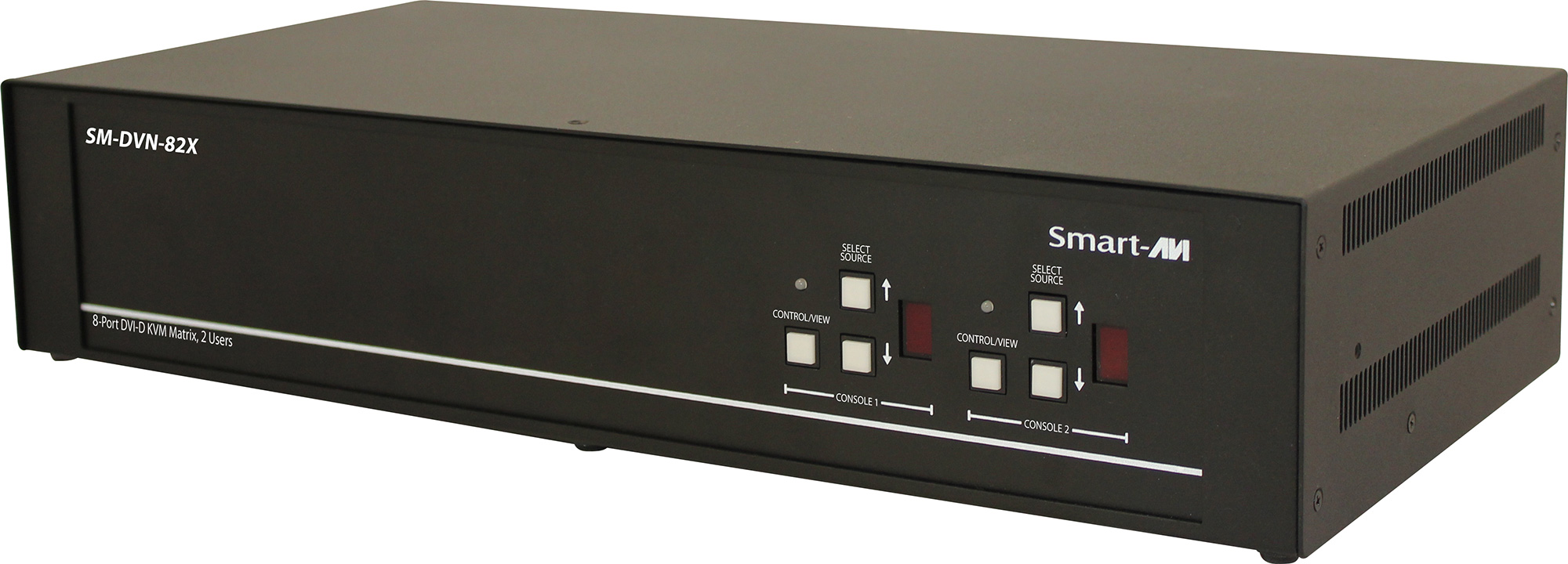 Smart AVI SM-DVN-82X DVI-D Matrix KVM Switch with Audio and USB 2.0 Support (2 Users) - 8 Port SAVI-SM-DVN-82X