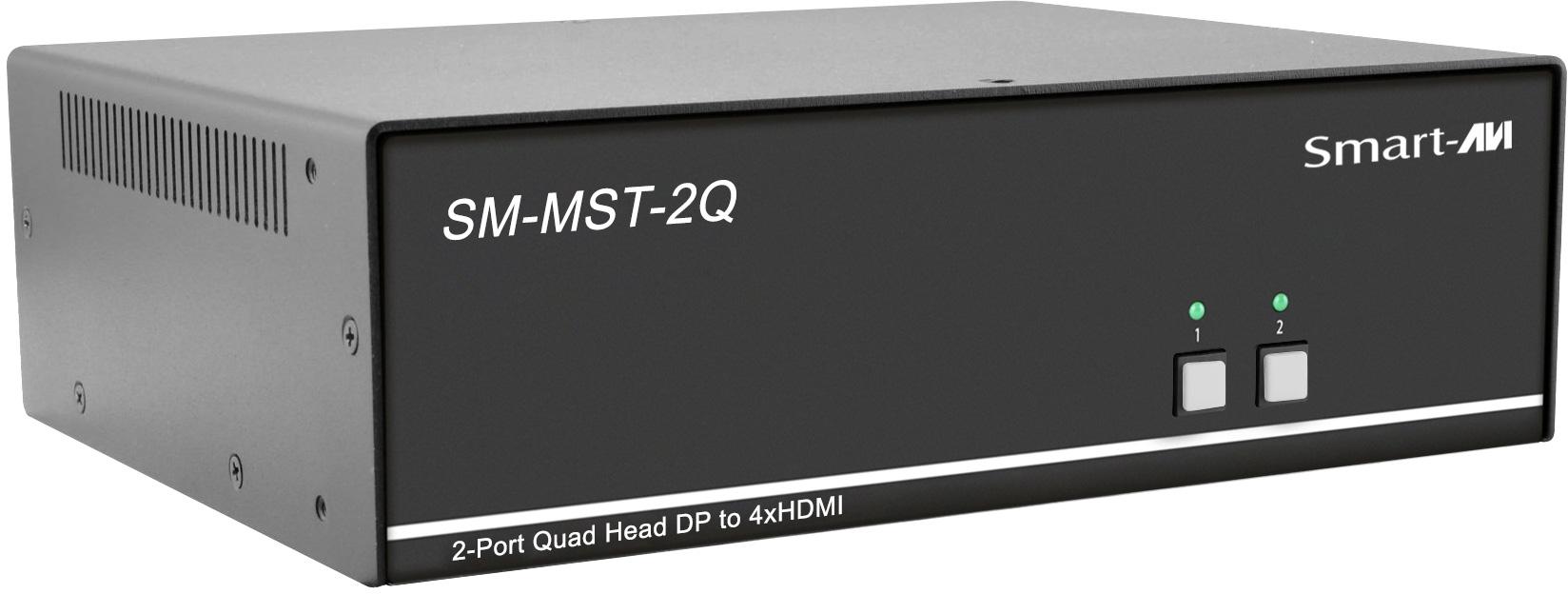 Smart AVI SM-MST-2Q MultiStream Transport Technology KVM Switch with Quad 4K HDMI Out - 2 Port SAVI-SM-MST-2Q