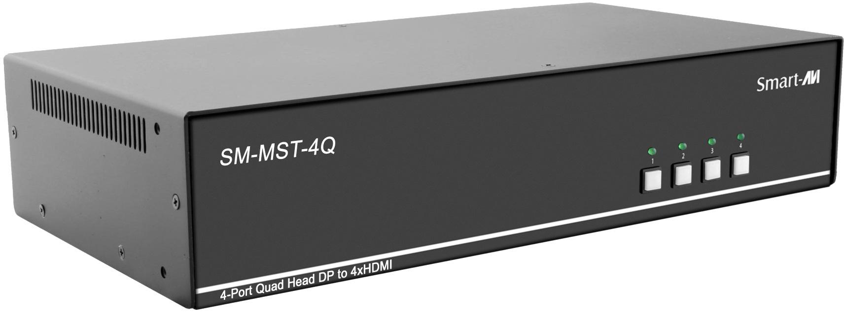 Smart AVI SM-MST-4Q MultiStream Transport Technology KVM Switch with Quad 4K HDMI Out - 4 Port SAVI-SM-MST-4Q