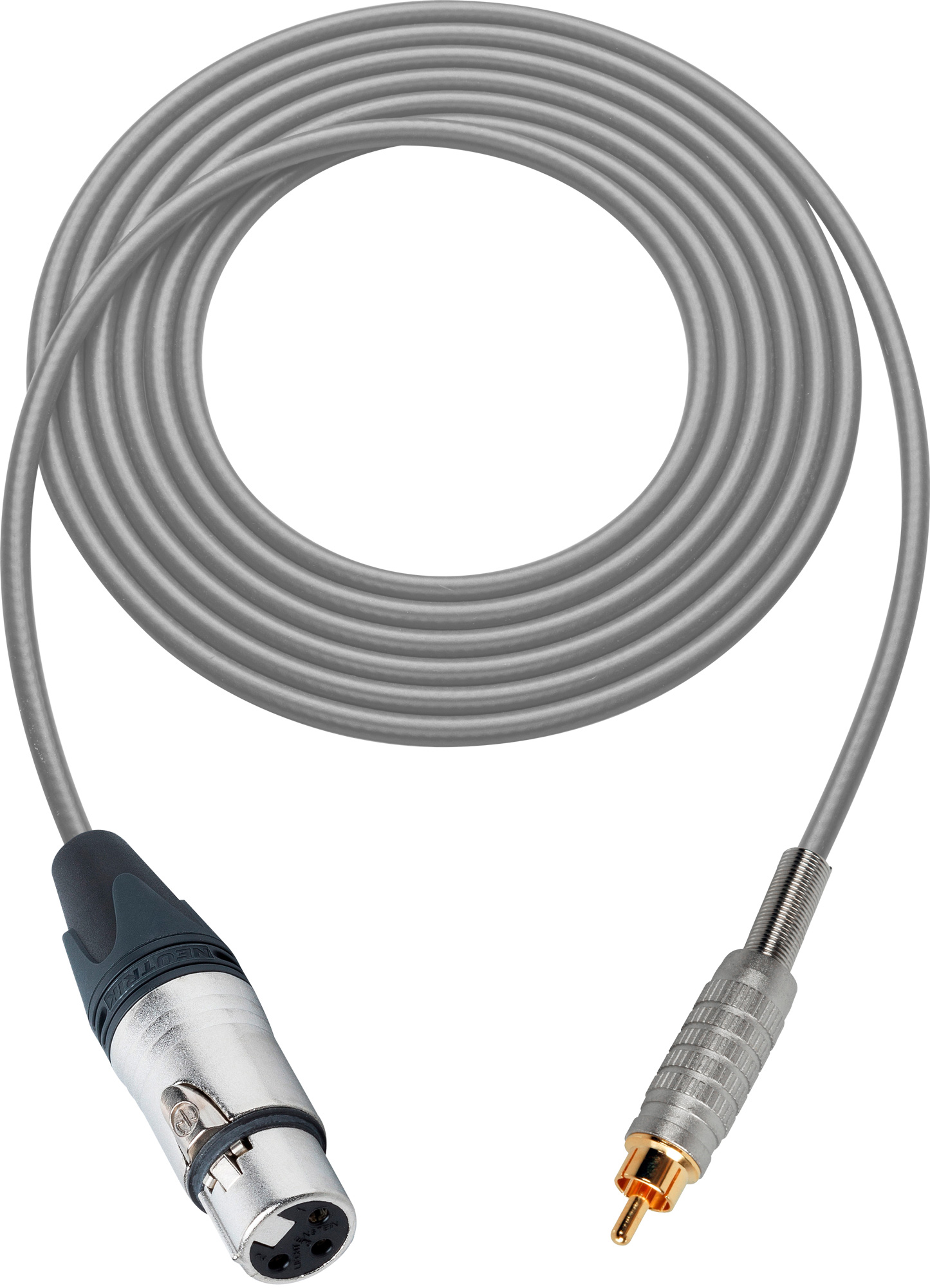 Canare Star Quad Cable Xlr Female To Rca Male 6 Foot Gray