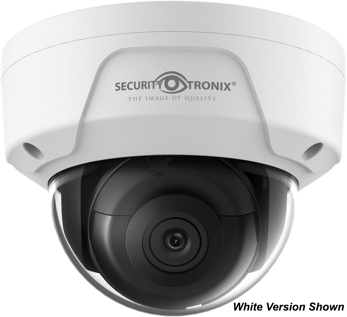 SecurityTronix ST-IP4FD-BLK 4MP IP Fixed Lens Dome Camera -Black SCT-ST-IP4FD-BLK