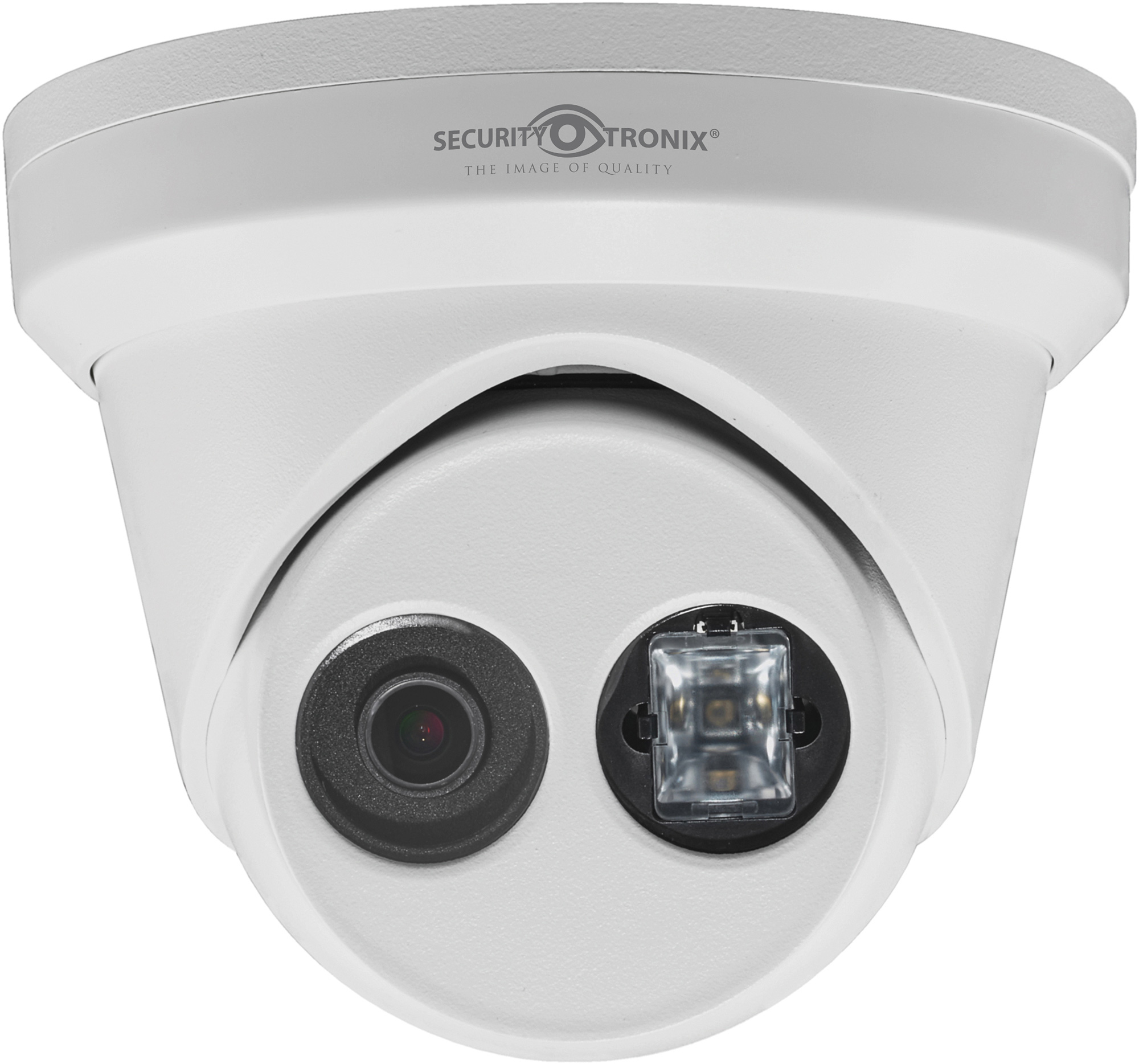SecurityTronix ST-IP4FTD-2.8 4MP IP Fixed Lens Turret Dome Camera - White SCT-ST-IP4FTD-28