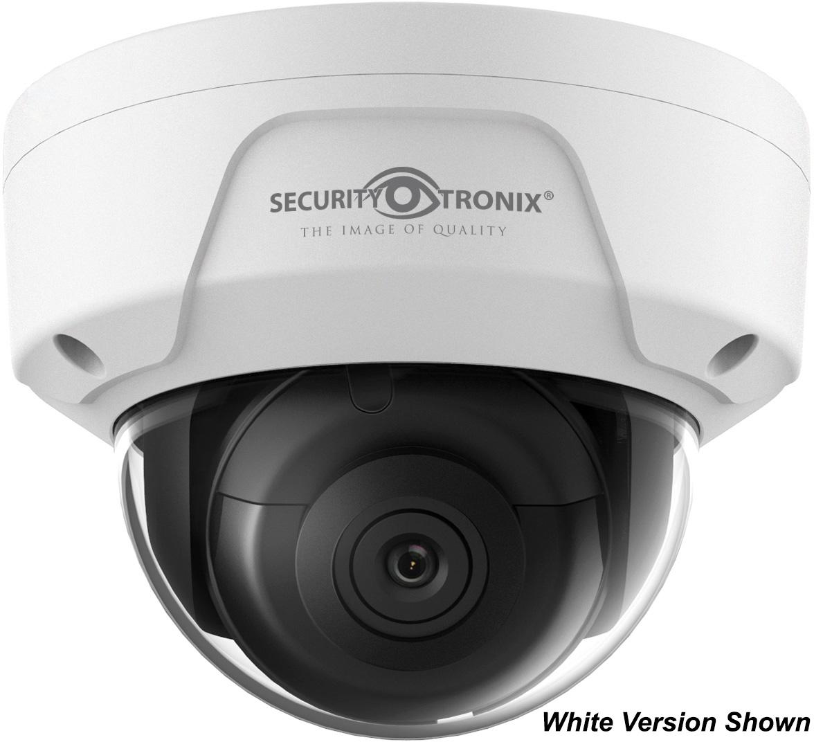 SecurityTronix ST-IP4FD-2.8-BLK 4MP IP Fixed Lens Dome Camera - Black SCT-STIP4FD28BLK