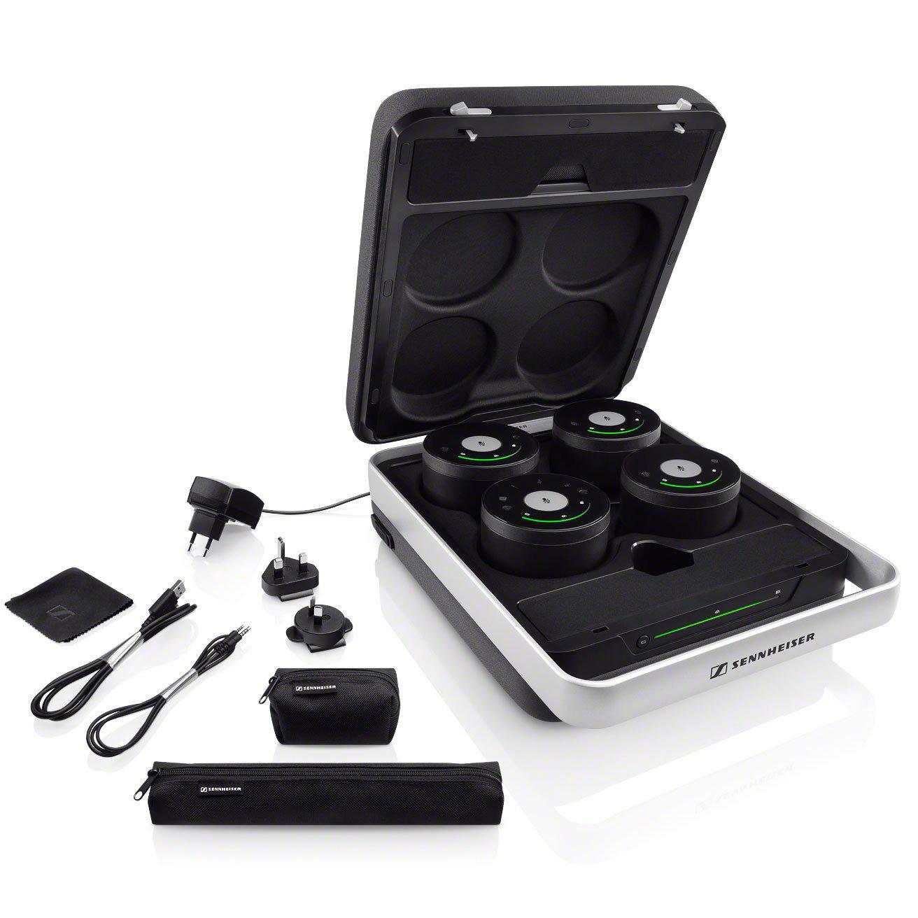 sennheiser tc w set case us teamconnect portable wireless conference system case set. Black Bedroom Furniture Sets. Home Design Ideas
