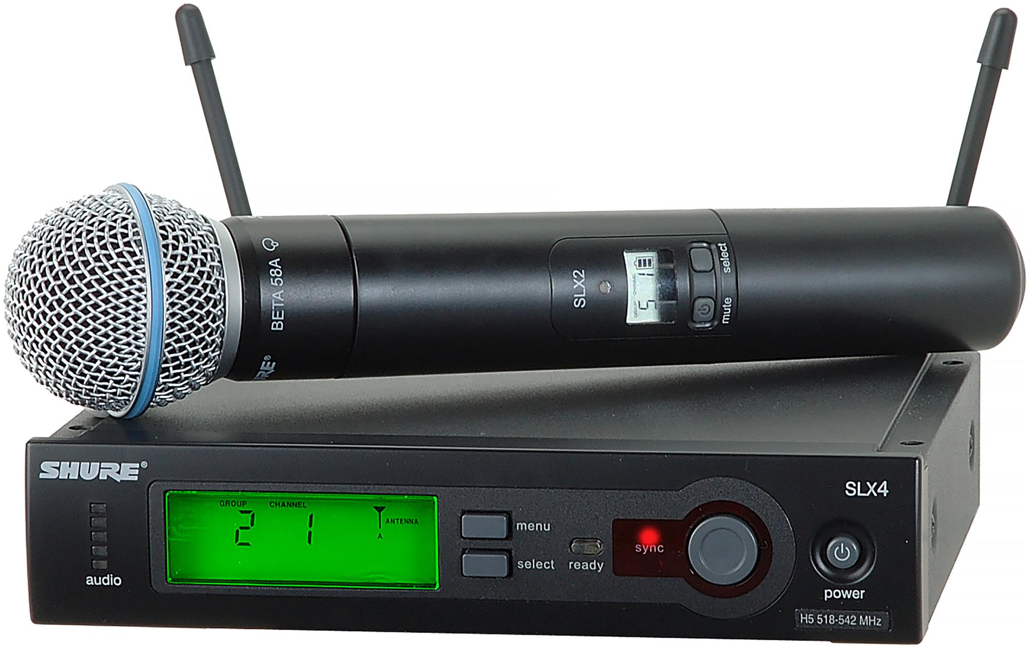 shure slx wireless system with beta58 handheld mic j3 572 596 mhz. Black Bedroom Furniture Sets. Home Design Ideas