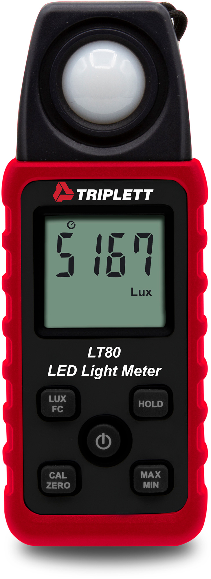Triplett LT80 LED Light Meter - White LED Light Sources up to 40000 Fc TRIPL-LT80