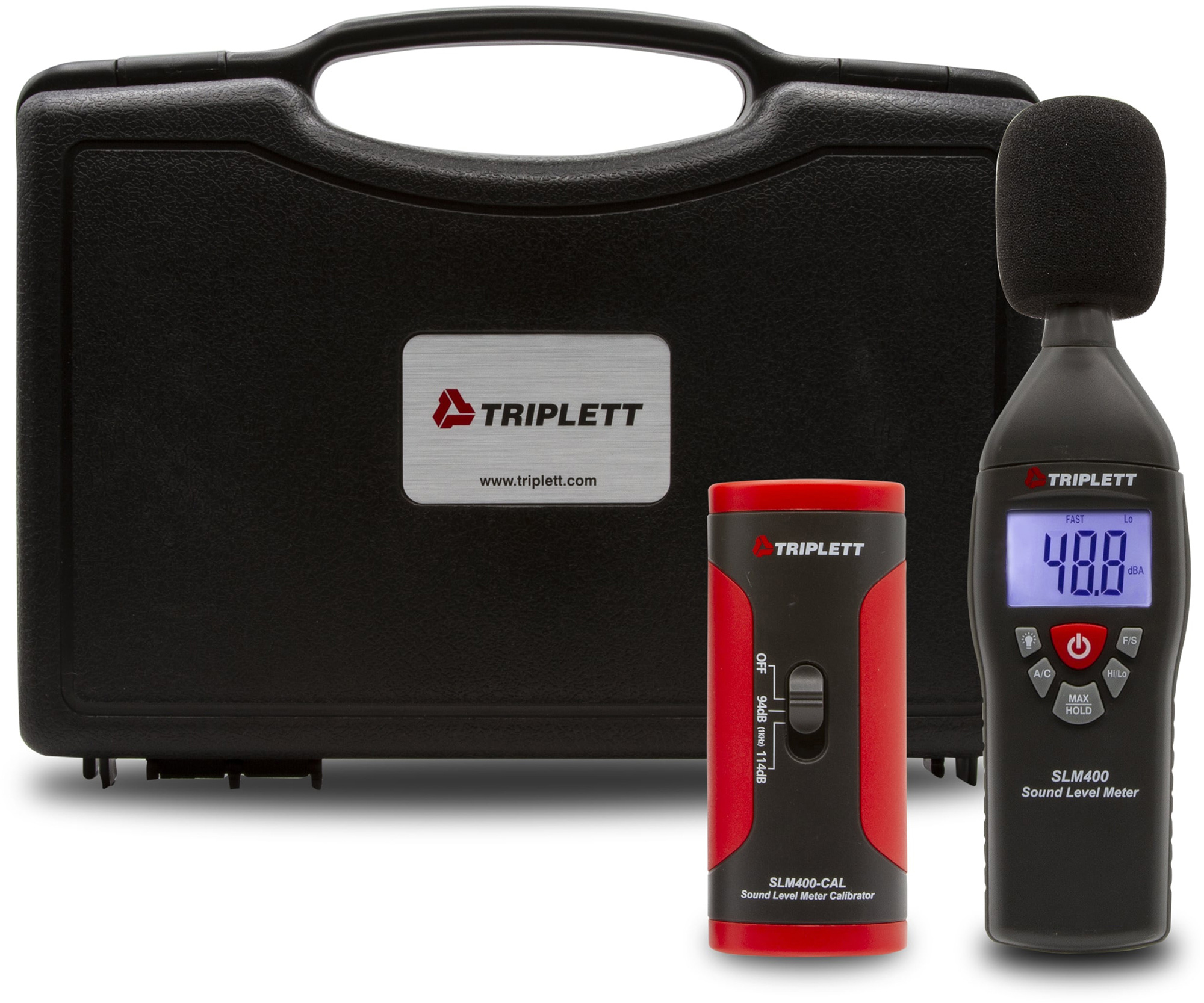Triplett SLM400-KIT Sound Level Meter / Calibrator Kit Includes SLM400 & Calibrator with Selectable 94dB and 114dB @1kHz TRIPL-SLM400-KIT