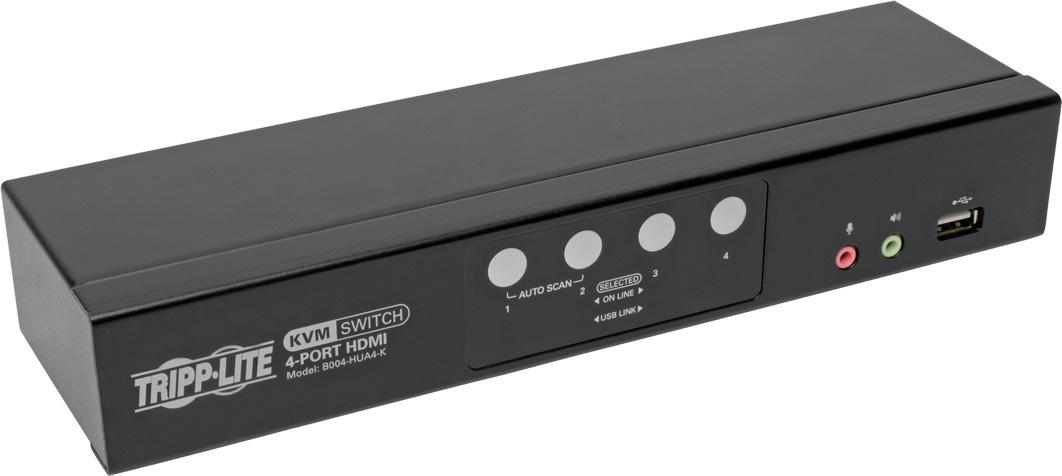 Tripp Lite B004-HUA4-K HDMI/USB KVM Switch 4-Port Audio Video Peripheral Sharing 1080p TRL-B004-HUA4-K