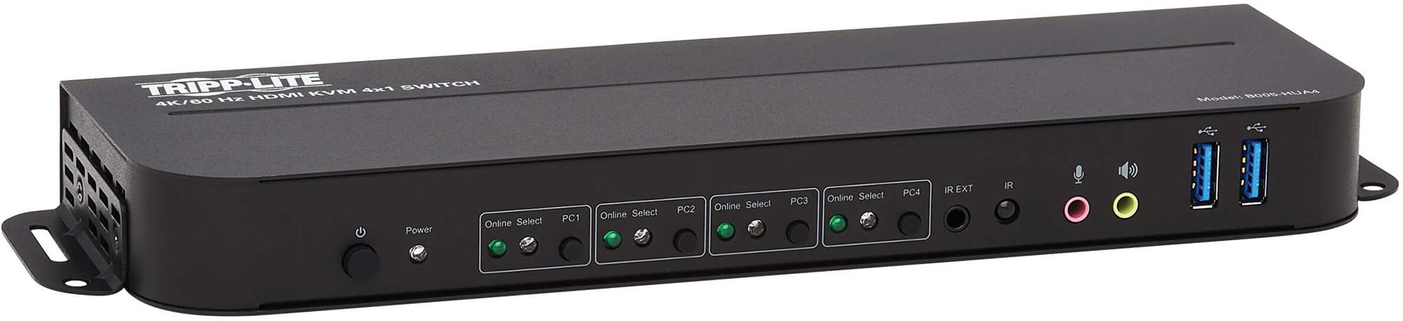 Tripp Lite B005-HUA4 4-Port HDMI/USB KVM Switch - 4K 60Hz/HDR/DCP 2.2/ IR/USB Sharing TRL-B005-HUA4