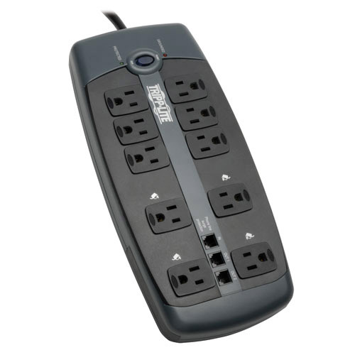 Protect It Outlet Surge Protector ft Cord 14Joules Light Gray