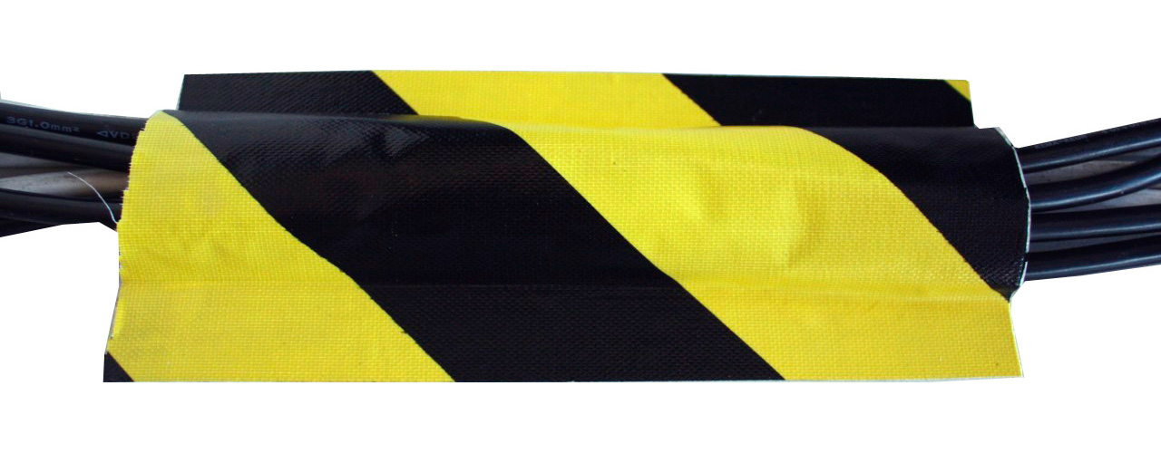 tunnel tape 40 yard roll 4 inch yellow black. Black Bedroom Furniture Sets. Home Design Ideas