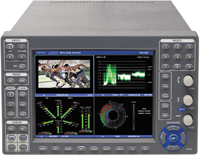 Imagine TVM9150PGK-EJ3 TVM Series Waveform Monitor Four Picture Display with 3G/HD/SD Advanced Jitter Eye Pattern Input TVM9150PGK-EJ3