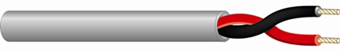 West Penn 25224BGY0200 - 25224B 18/2 Plenum Speaker Cable 200 Feet Gray WP-25224BGY0200