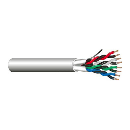 West Penn 3751 18 AWG 2 Pair 4 Conductor Shielded Cable (1000 Ft.)