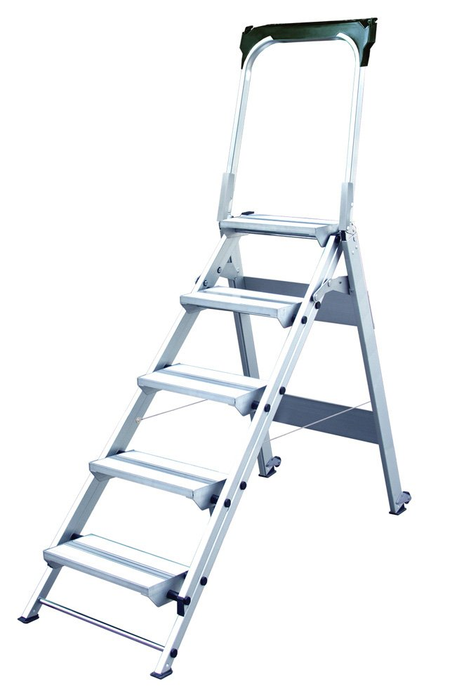 Xtend Amp Climb Wt5 5 Step Folding Safety Step Stool With