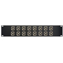 MCS 16XEHUSBBA Switchcraft E Series 16-Point USB-B Front to USB-A Rear Feedthru Patch Panel - 2RU