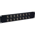 Laird 16XUHD-BNCR 4K/8K 12G-SDI Feed Through BNC Patch Panel - 16 Point x 2RU