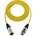 Sescom 1800F-XMF-2-YW Digital Patch Cable Belden 1800F AES/EBU Female XLR to Male XLR High-Flex Yellow - 2 Foot