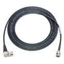 Laird 1855-B-BRA-3 Belden 1855A SDI/HDTV Sub-Mini RG59 BNC to Right-Angle BNC Cable Black - 3 Foot