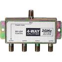 4-Way 2.4Ghz 90dB Satellite Splitter DC Power Passing to One Port